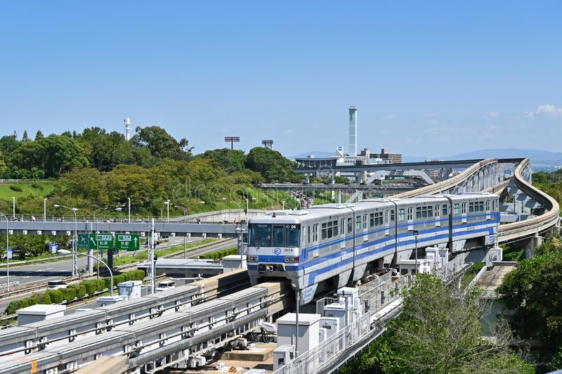 Monorail, Osaka, Japan royalty free stock photos