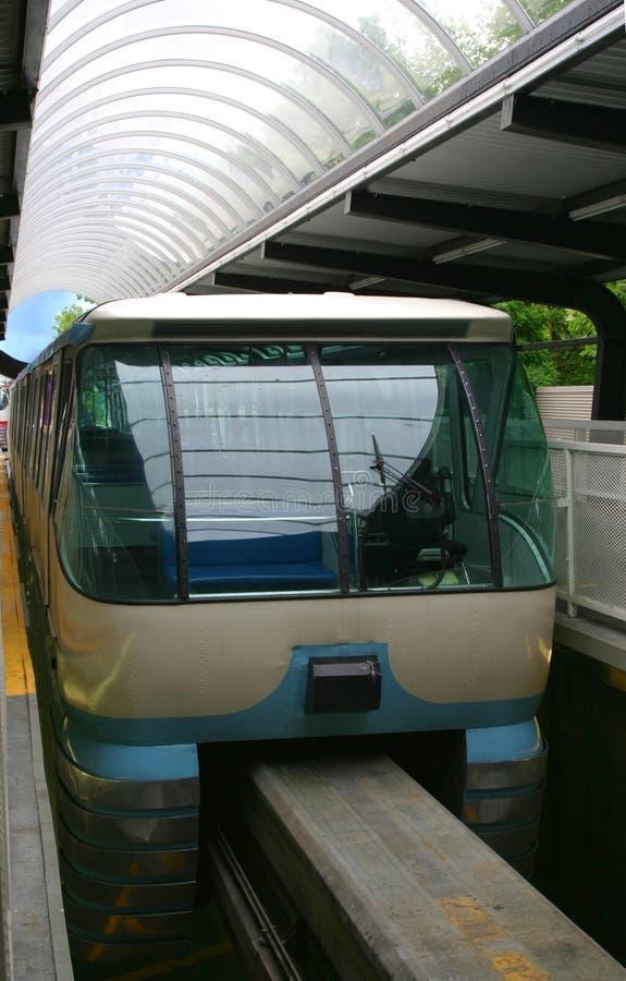 monorail seattle royaltyfri bild