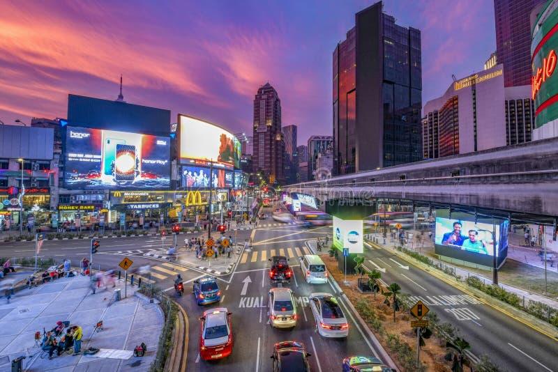 Monorail station at Buking Bintang district stock image