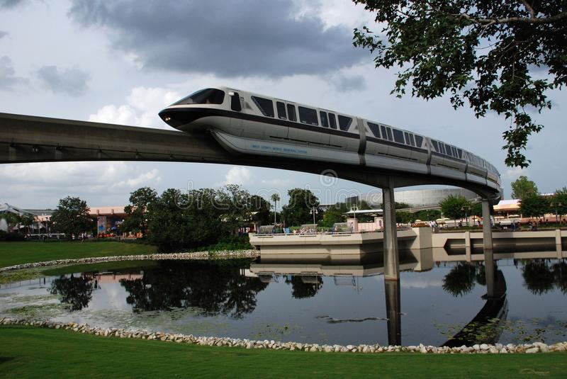 Monorail Train in Epcot stock photos
