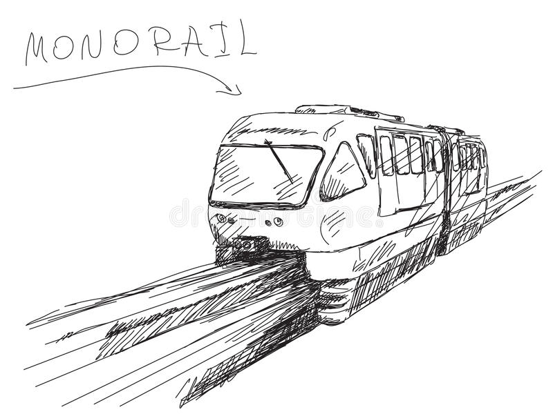 Monorail train vector illustration