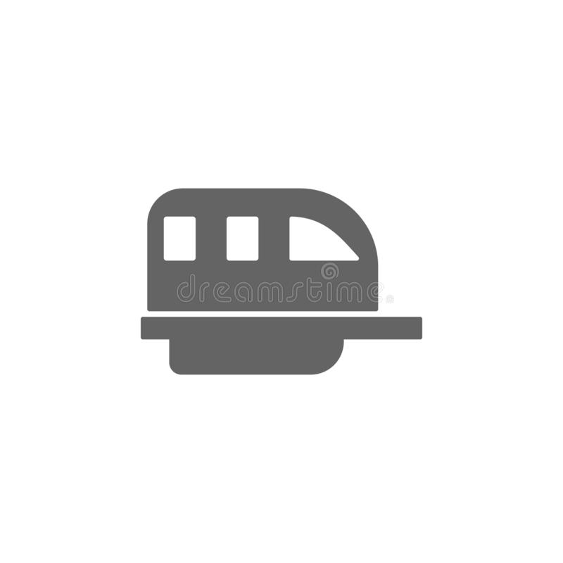 Monorail, train, transport icon. Element of simple transport icon. Premium quality graphic design icon. Signs and symbols royalty free illustration