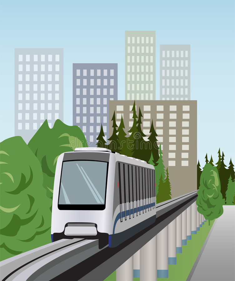 Monorail train vector stock illustration