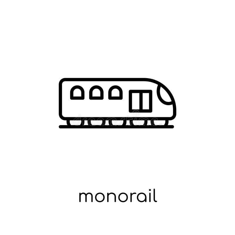 Monorailpictogram van Vervoersinzameling royalty-vrije illustratie