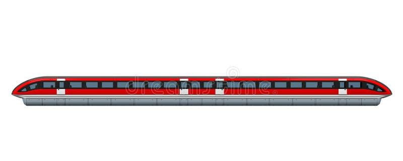 Monorailtrein royalty-vrije illustratie