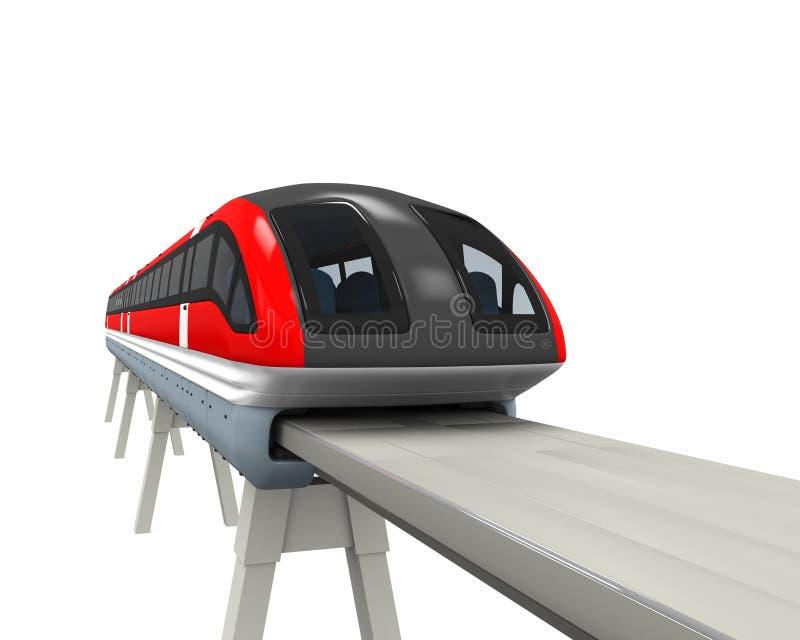 Monorailtrein stock illustratie
