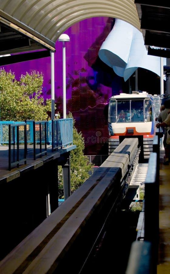 Download Monorotaia di Seattle immagine stock. Immagine di attrazione - 208225