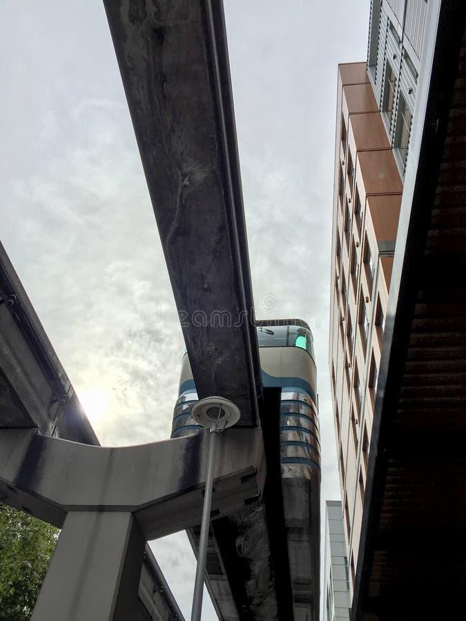 Monorotaia a Seattle immagini stock libere da diritti