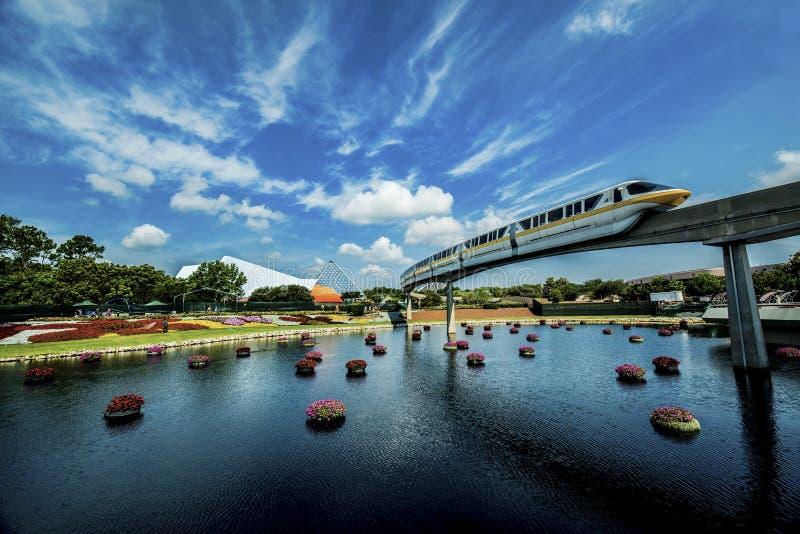 Monorrail de Disney Orlando fotografía de archivo