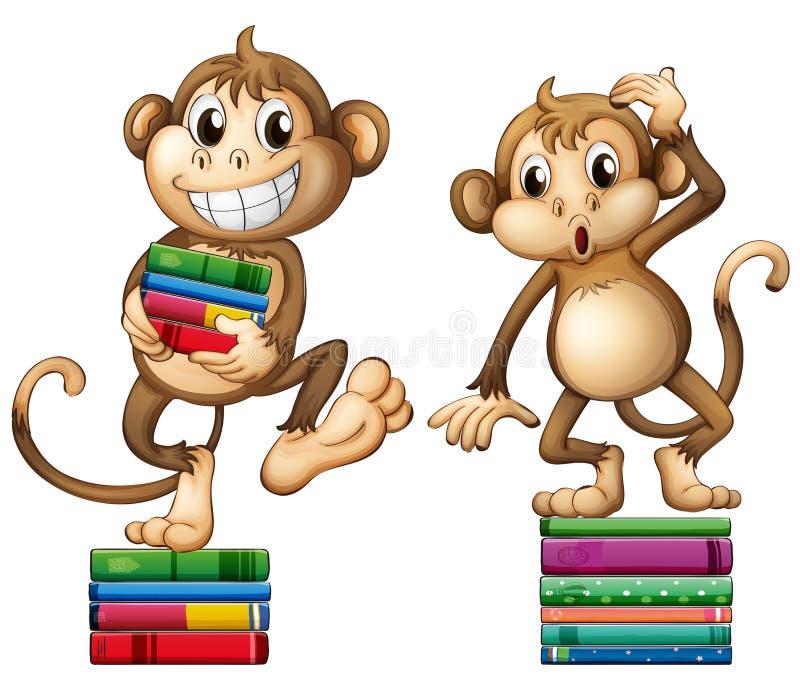 monos stock de ilustración
