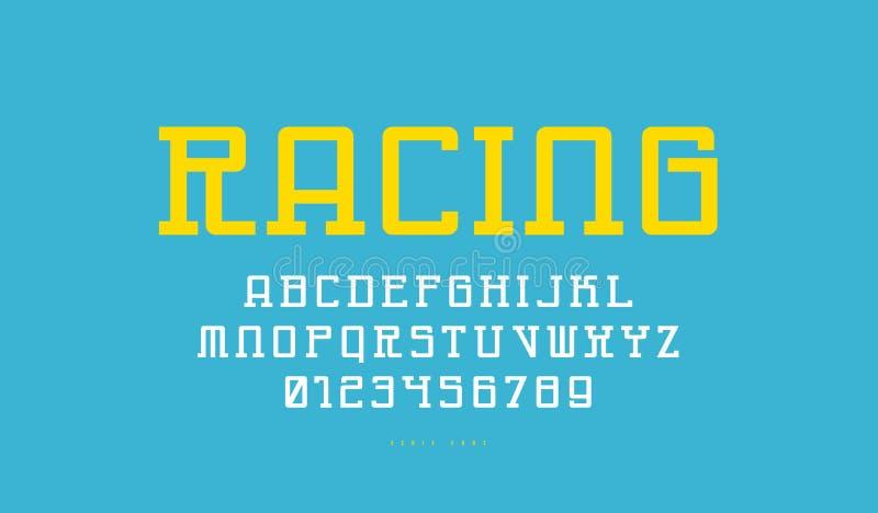 Monospaced平板在网络样式的细体字体 向量例证