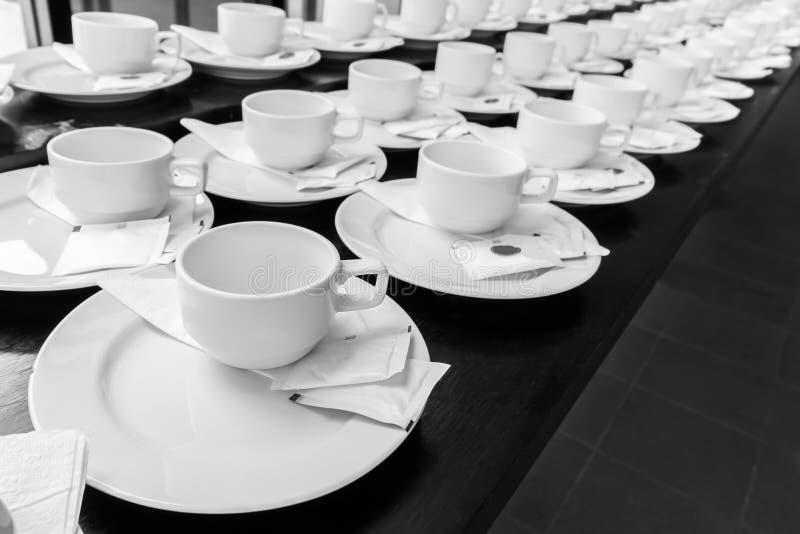 Monotone color set of coffee break royalty free stock image