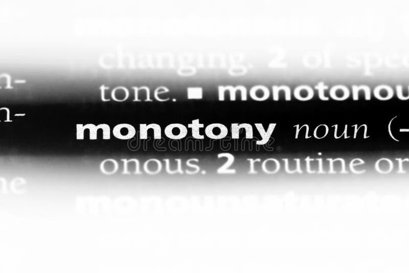 monotony arkivbild