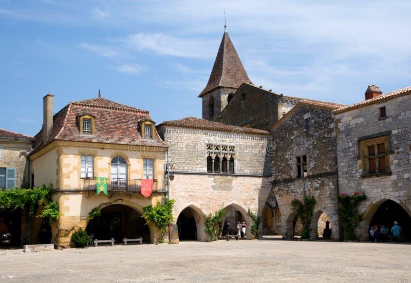 Monpazier, Γαλλία στοκ φωτογραφία με δικαίωμα ελεύθερης χρήσης