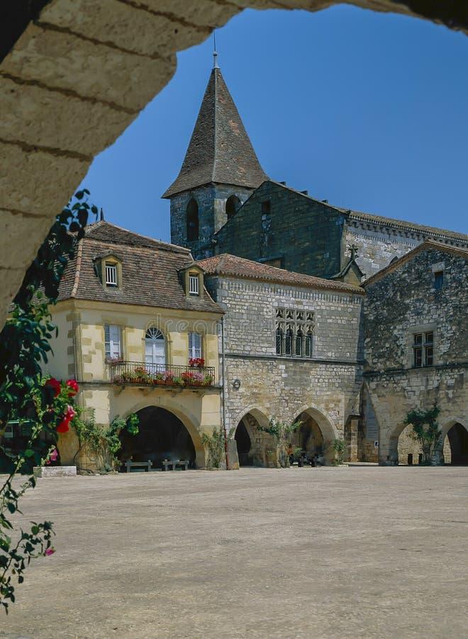 Monpazier, Dordogne, Γαλλία στοκ εικόνες