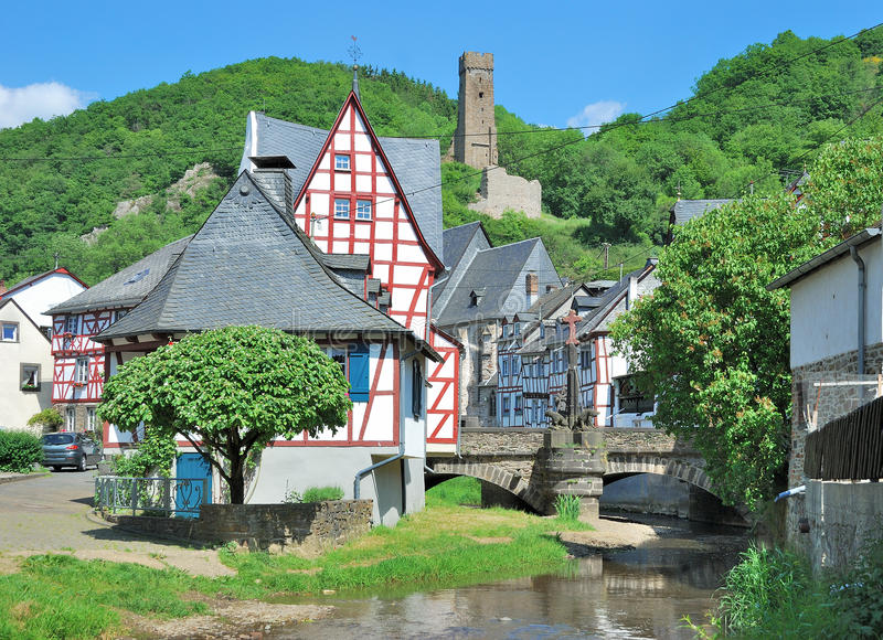 Monreal,Eifel National Park,Germany. The idyllic Village of Monreal,Eifel National Park,Germany stock photos
