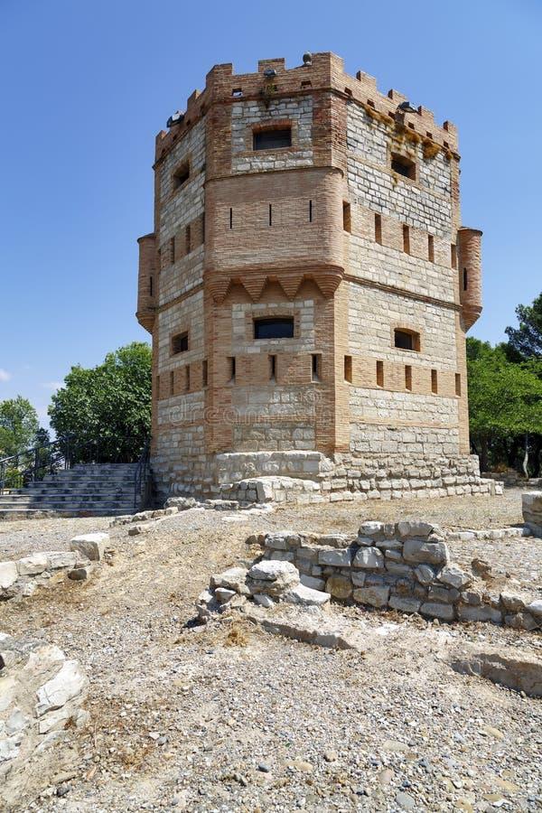 Monreal-Turm in Tudela, Spanien lizenzfreie stockfotos