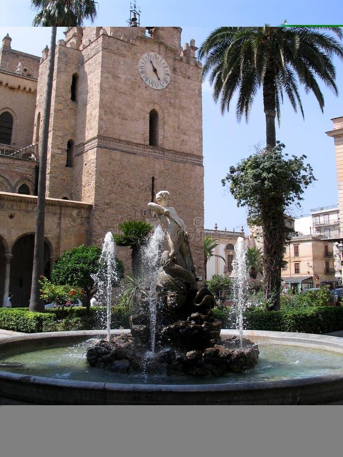 monreale собора стоковые изображения