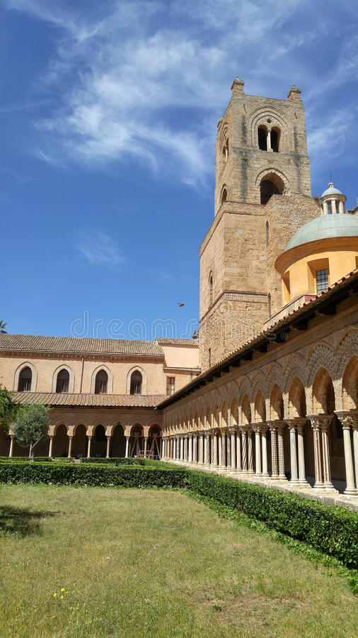 Monreale Cloister stock images