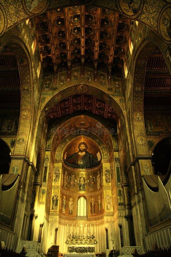 monreale d'or chrétien Palerme de cathédrale d'autel photo libre de droits