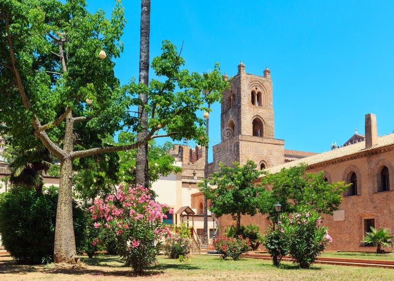 Monreale Katedralny Przyklasztorny, Palermo, Sicily, Włochy zdjęcia stock