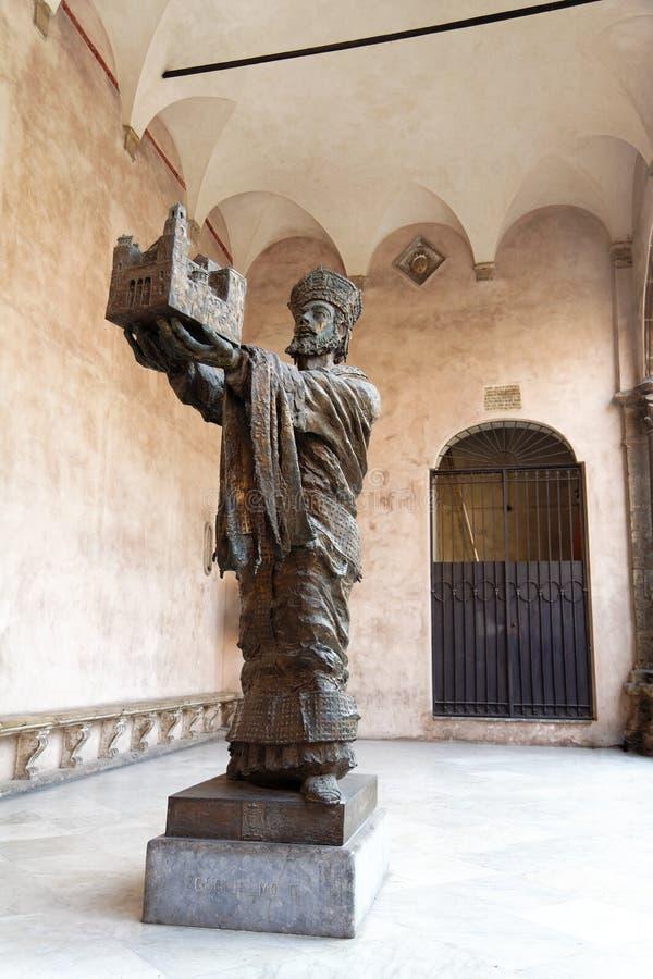 Monreale Kirche-Statue stockbilder