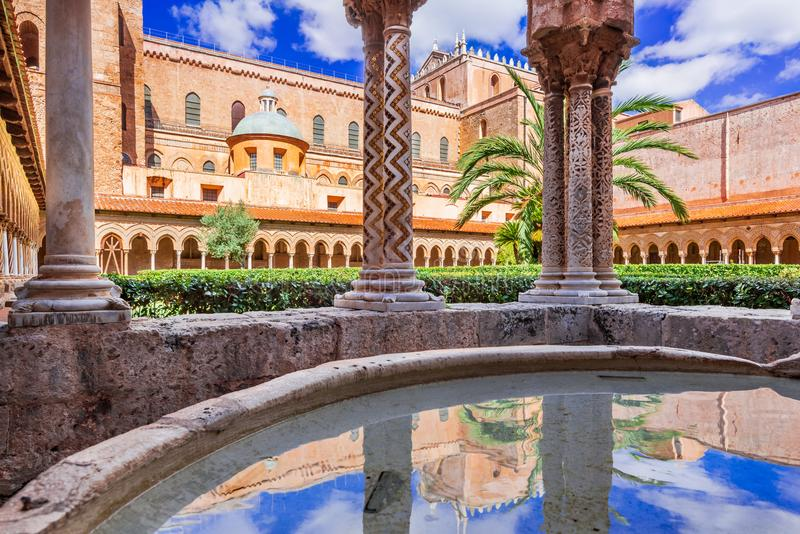 Monreale Cathedral, Palermo in Sicily stock photography