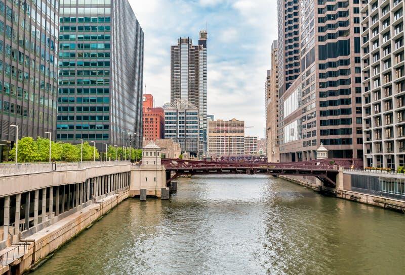 Monroe Adams Street Bridge Chicago photos stock