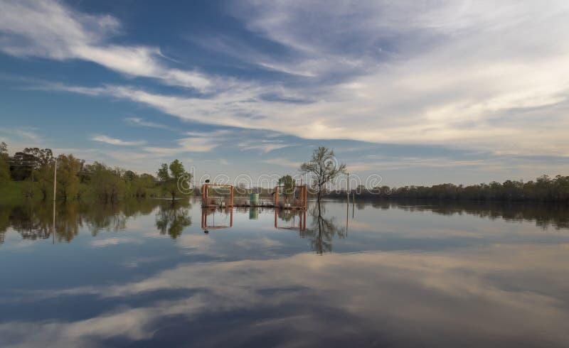 Monroe, Louisiana/U S A Maszeruje 22,2019 Forsythe Parkową Łódkowatą rampę na Ouachita rzece fotografia stock