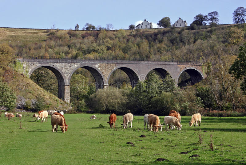 Monsal HauptViaduct, Monsaldale, Derbyshire lizenzfreies stockbild