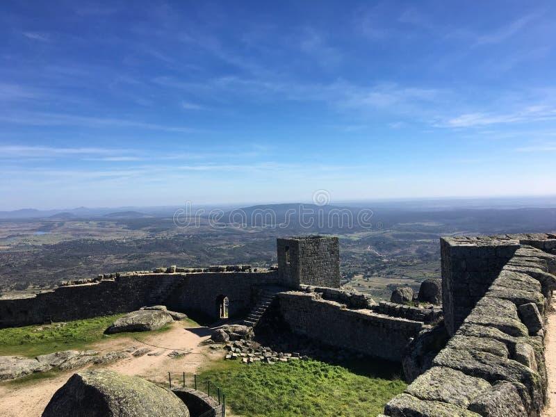 Monsanto Castel, Idanha en nova, Portugal royaltyfri bild