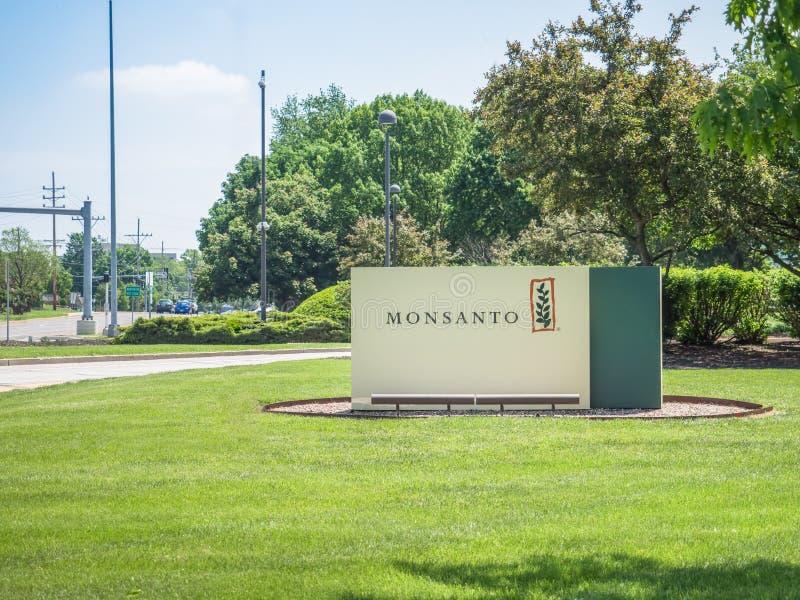 Monsanto kwater głównych korporacyjny znak zdjęcia royalty free