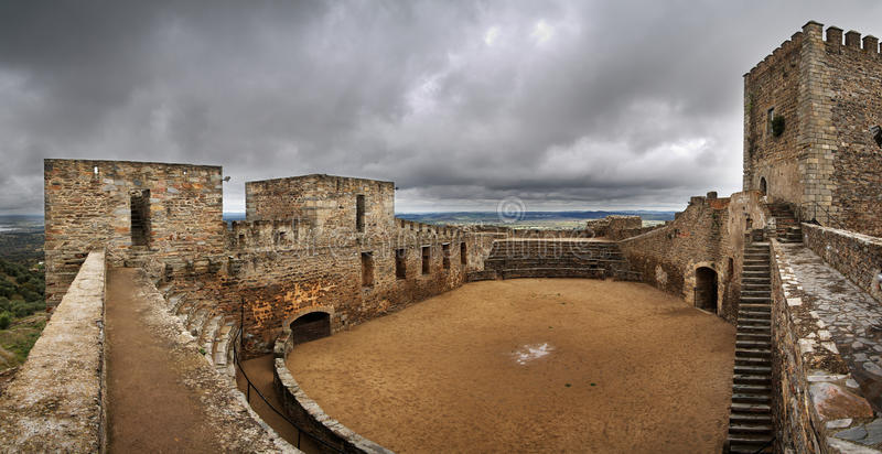 Monsaraz Castle interior stock image