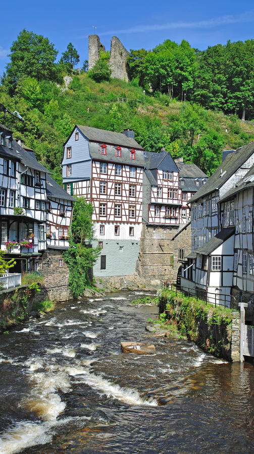 Download Monschau in the eifel stock image. Image of destination - 22287387