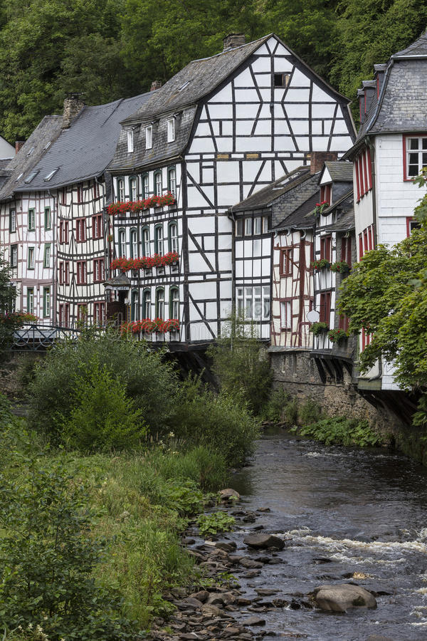 Monschau - Eifel Nature Park - Germany. Monschau - The town is located in the hills of the North Eifel, within the Hohes Venn – Eifel Nature Park in the royalty free stock images