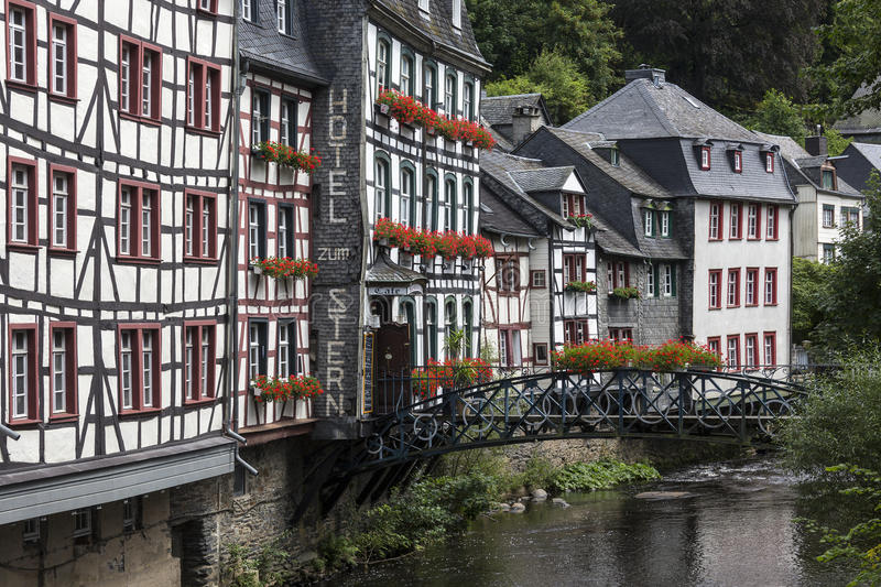 Monschau - Eifel Nature Park - Germany. Monschau - The town is located in the hills of the North Eifel, within the Hohes Venn – Eifel Nature Park in the stock images