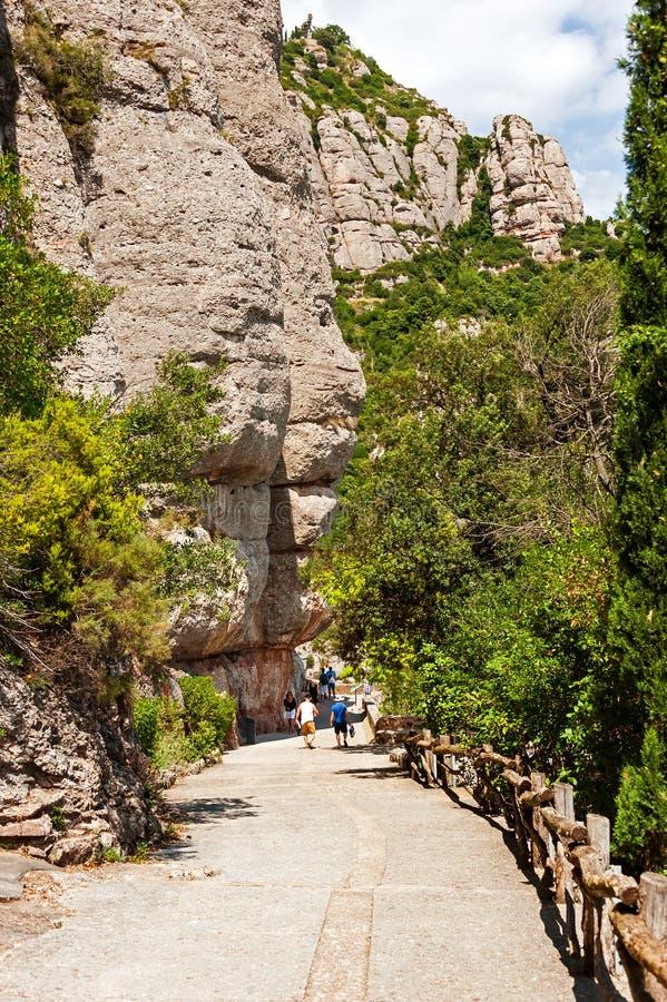 Monserrat Mountain Abbey, Barcelona fotos de stock