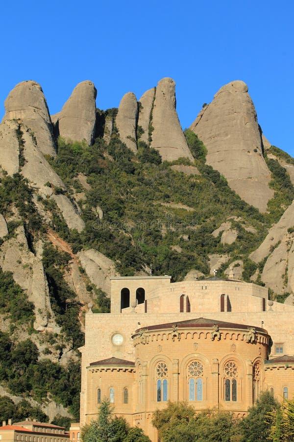 Download Monserrat peaks and abbey stock photo. Image of peak - 24827670