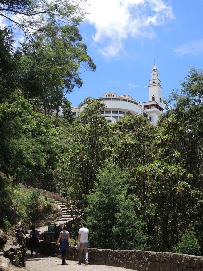 Monserrate в Боготе, Колумбии. стоковое изображение