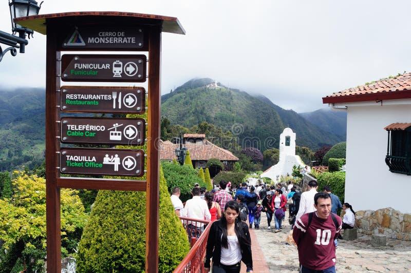 Monserrate - Bogota image stock