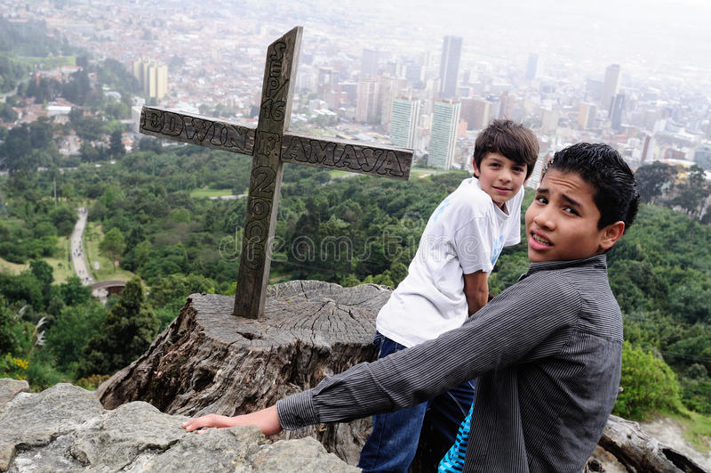 Monserrate - Bogota photographie stock