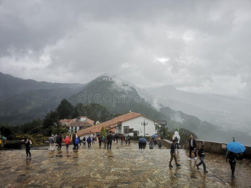 Monserrate em Bogotá, Colômbia imagem de stock royalty free