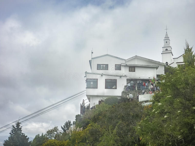 Monserrate Hill in Bogota Colombia stock photography
