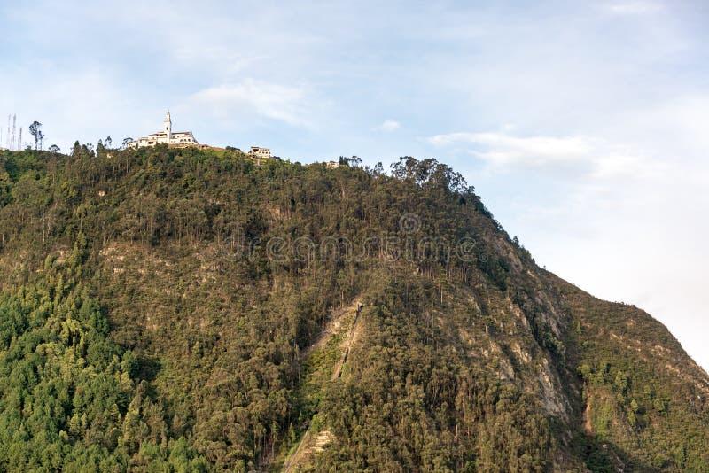 Monserrate kościół w Bogota fotografia royalty free