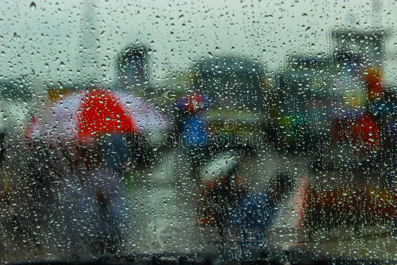 monsone fotografie stock