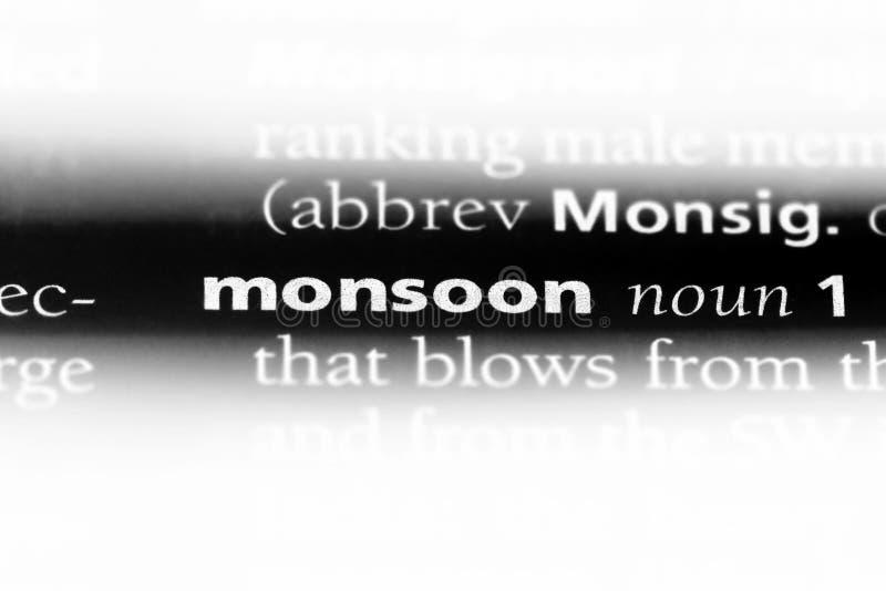 monsoon arkivfoton