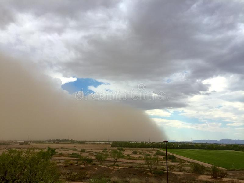Monsoon Haboob. A haboob dust storm approaches Phoenix, Arizona ahead of a monsoon thunderstorm royalty free stock photography