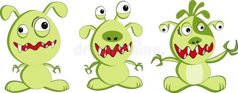 monster royaltyfri illustrationer