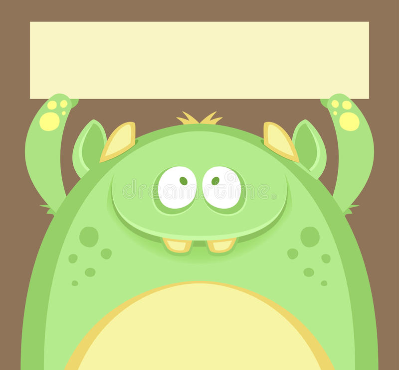 monster royaltyfri illustrationer