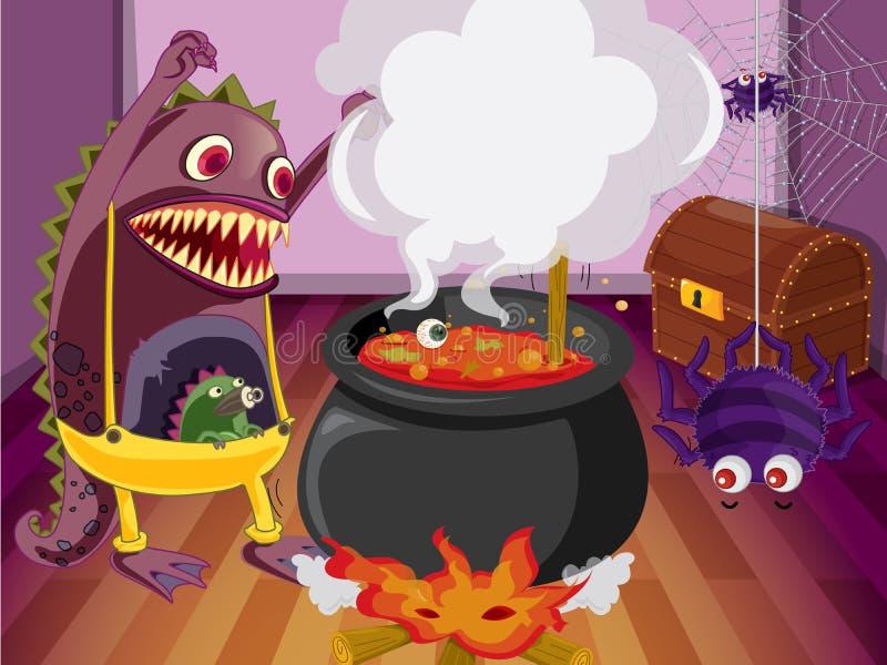 Download A monster stock illustration. Illustration of dark, boiling - 27898333